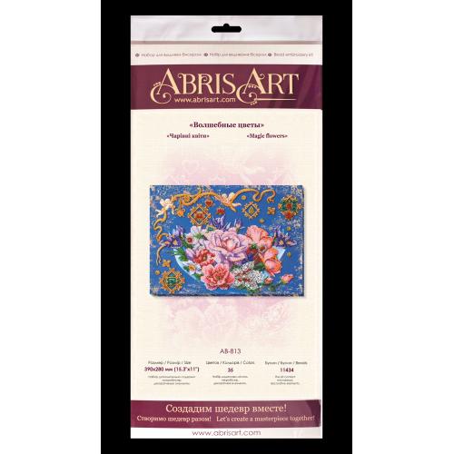 """Набір для вишивання бісером на натуральному художньому холсті """"Чарівні квіти"""""""