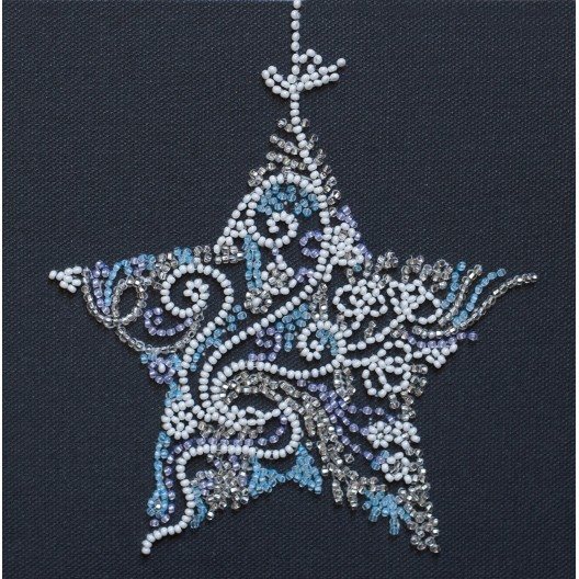 """Набір-міні для вишивання на натуральному художньому холсті """"Мереживна зірка"""""""