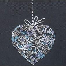 """Набір-міні для вишивання на натуральному художньому холсті """"Мереживне серце"""""""
