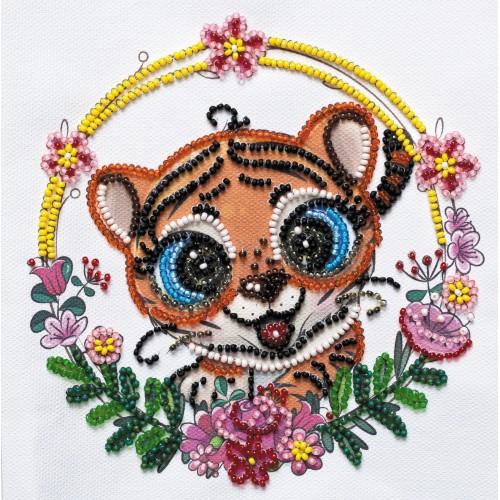 """Набір-міні для вишивання на натуральному художньому холсті """"Веселе тигреня"""""""