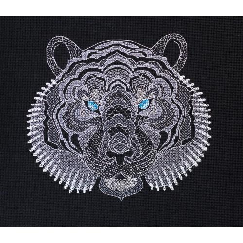 """Набір для вишивання хрестиком """"Білий тигр"""""""