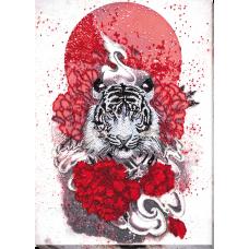 """Набір для вишивання бісером на натуральному художньому холсті """"Бай-ху (Білий тигр)"""""""