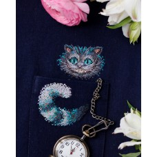 """Набір для вишивання хрестиком на одязі """"Чеширський кіт-1"""""""