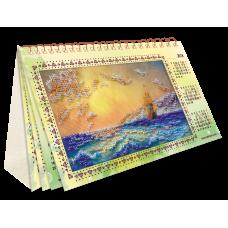 """Набір для вишивання на натуральному художньому холсті """"Календар. Шум прибою"""""""
