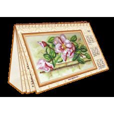"""Набір для вишивання на натуральному художньому холсті """"Календар. Квіти"""""""