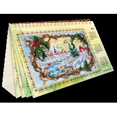 """Набір для вишивання на натуральному художньому холсті """"Календар. Сезони радості"""""""