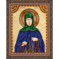 Набір для вишивання бісером на натуральному художньому холсті Свята Євдокія