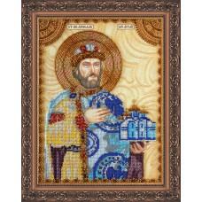 Набір для вишивання бісером на натуральному художньому холсті Святий Ярослав