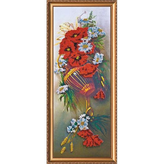 """Набір для вишивання бісером на натуральному художньому холсті """"Польові квіти"""""""