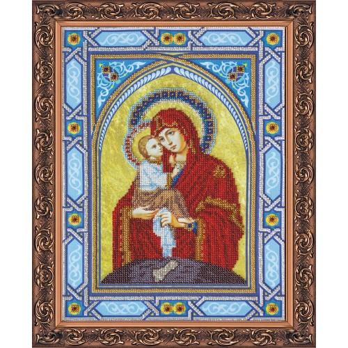 """Набір для вишивання бісером на натуральному художньому холсті """"Богородиця Почаєвська"""""""