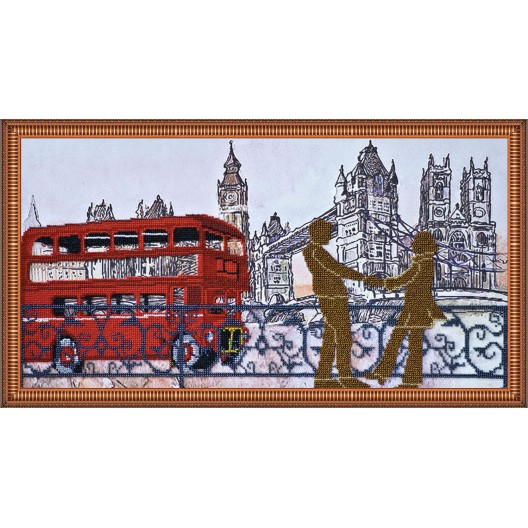 """Набір для вишивання бісером на натуральному художньому холсті """"Лондонські сюжети-3"""""""