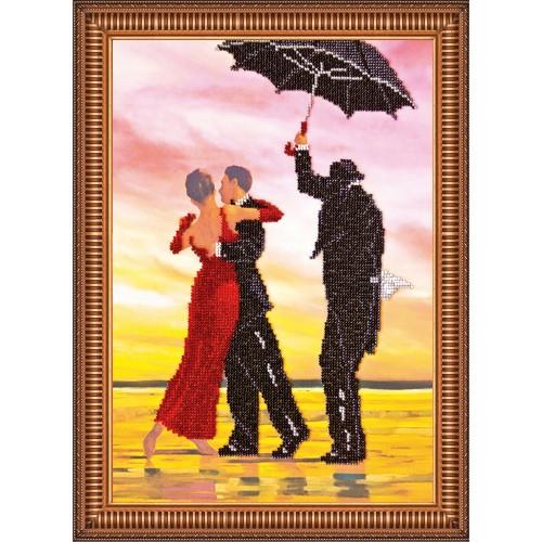 """Набір для вишивання бісером на натуральному художньому холсті """"Під дощем"""""""
