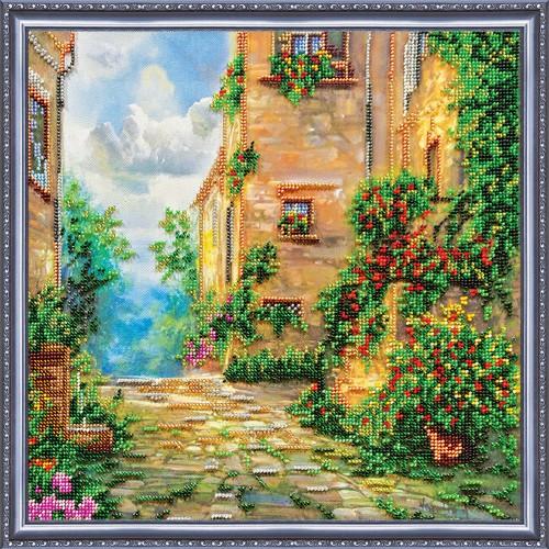 """Набір для вишивання бісером на натуральному художньому холсті """"Квіткова вулиця"""""""
