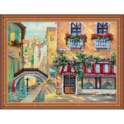 """Набір для вишивання бісером на натуральному художньому холсті """"Венеціанське кафе"""""""