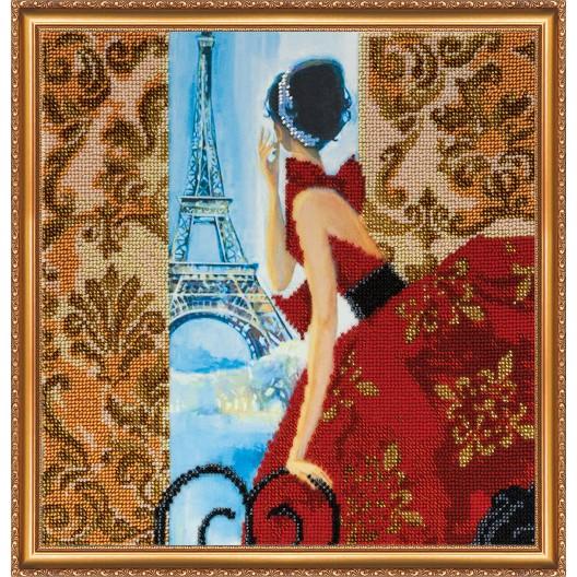 """Набір для вишивання бісером на натуральному художньому холсті """"Вікно в Париж"""""""