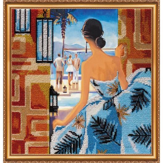 """Набір для вишивання бісером на натуральному художньому холсті """"Вікно в Ріо"""""""