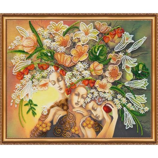 """Набір для вишивання бісером на натуральному художньому холсті """"Богині цвітіння"""""""