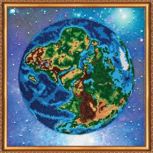 """Набір для вишивання бісером на натуральному художньому холсті """"Планета Земля"""""""