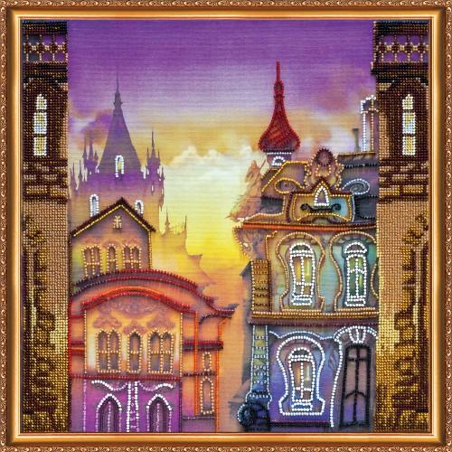 """Набір для вишивання бісером на натуральному художньому холсті """"Старе місто"""""""