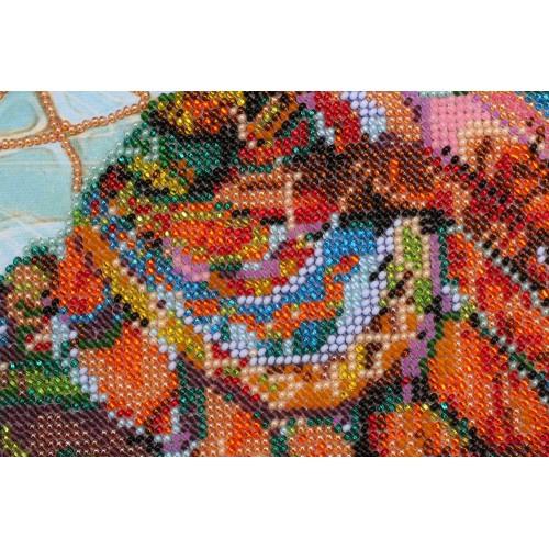 """Набір для вишивання бісером на натуральному художньому холсті """"Мозаїчний слон"""""""