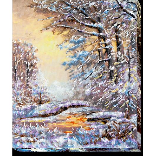 """Набір для вишивання бісером на натуральному художньому холсті """"Кришталева зима"""""""