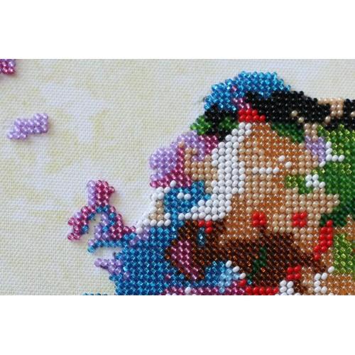 """Набір для вишивання бісером на натуральному художньому холсті """"Мапа світу-2"""""""