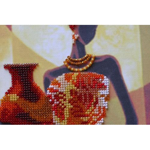 """Набір для вишивання бісером на натуральному художньому холсті """"Африка-3"""""""