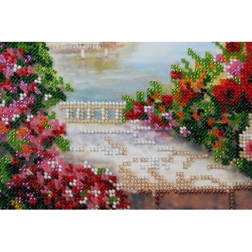 """Набір для вишивання бісером на натуральному художньому холсті """"Літній сад"""""""