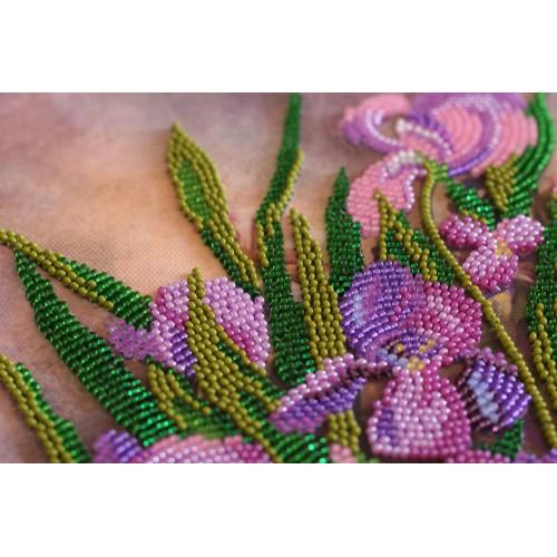"""Набір для вишивання бісером на натуральному художньому холсті """"Квіткове мереживо"""""""