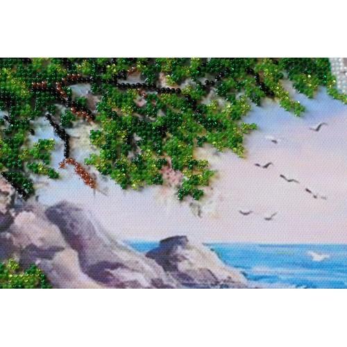 """Набір для вишивання бісером на натуральному художньому холсті """"Вид на море"""""""
