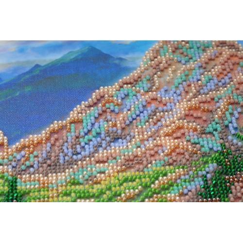 """Набір для вишивання бісером на натуральному художньому холсті """"Гiрський пейзаж"""""""