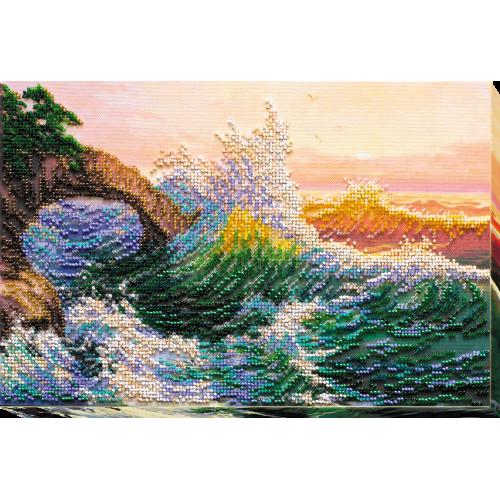 """Набір для вишивання бісером на натуральному художньому холсті """"Морська історія"""""""