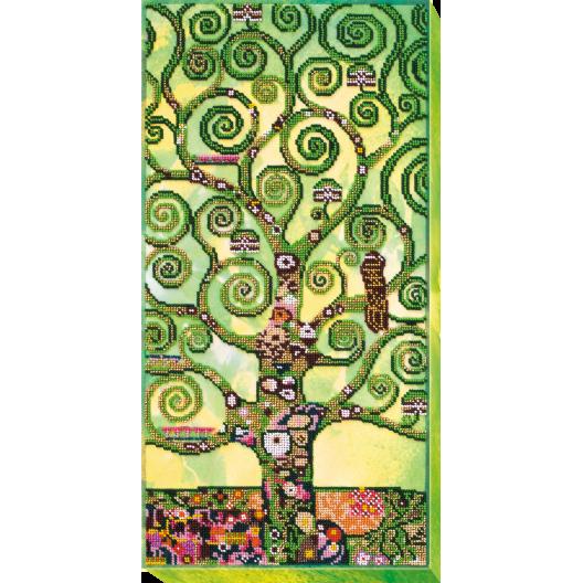 """Набір для вишивання бісером на натуральному художньому холсті """"Дерево життя літо"""""""