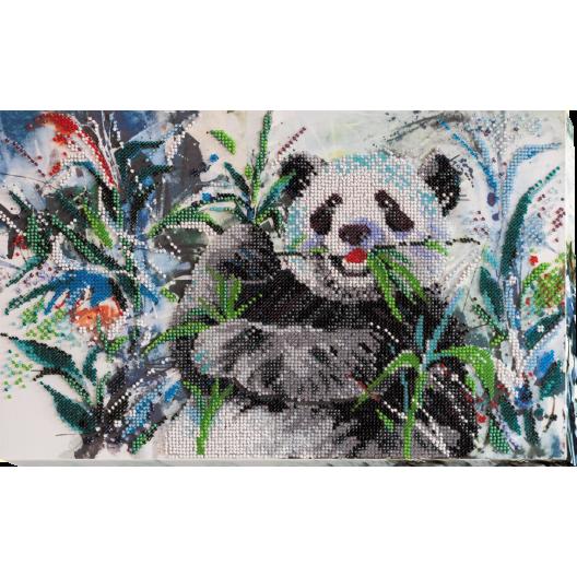 """Набір для вишивання бісером на натуральному художньому холсті """"Бамбуковий ведмідь"""""""