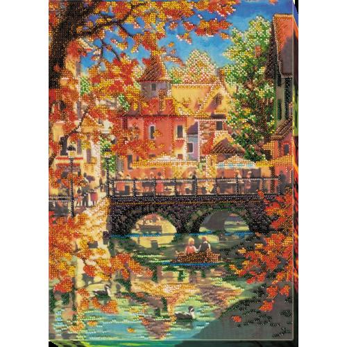 """Набір для вишивання бісером на натуральному художньому холсті """"Краса осені"""""""