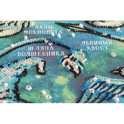 """Набір для вишивання бісером на натуральному художньому холсті """"Карта неіснуючих сузір`їв"""""""