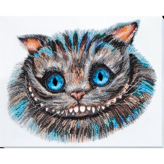 """Набір для вишивання бісером на натуральному художньому холсті """"Чеширський Кіт"""""""