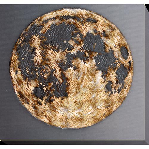 """Набір для вишивання бісером на натуральному художньому холсті """"Місяць"""""""