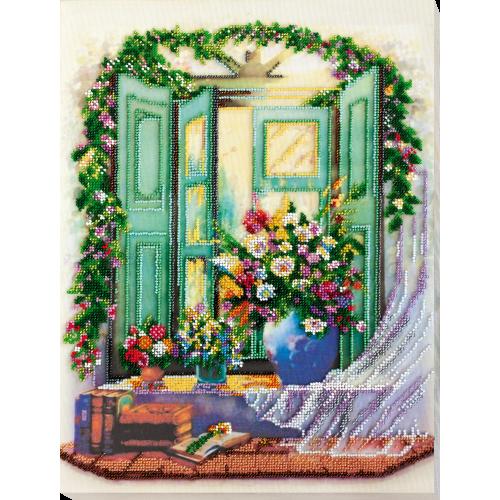 """Набір для вишивання бісером на натуральному художньому холсті """"Літній ескіз"""""""