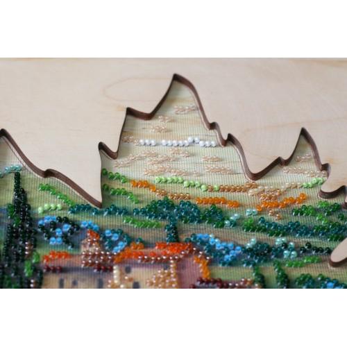"""Набір для вишивання бісером на натуральному художньому холсті """"Сонце Тоскани"""" з дерев'яною рамкою"""