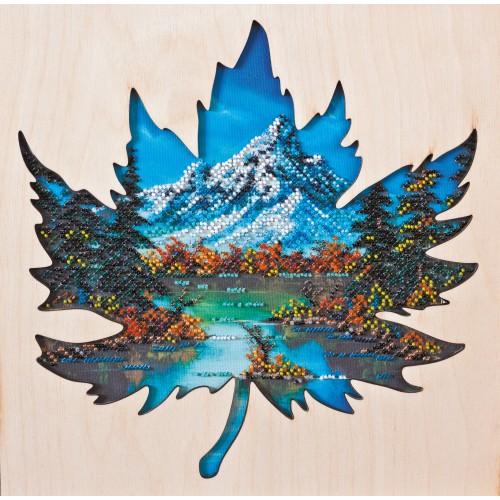 """Набір для вишивання бісером на натуральному художньому холсті """"Прохолода Банфу"""" з дерев'яною рамкою"""