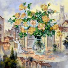 """Схема для вишивання бісером на натуральному художньому холсті """"Біля міської ратуші"""""""