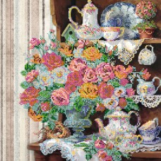 """Схема для вишивання бісером на натуральному художньому холсті """"Англійський сніданок """""""