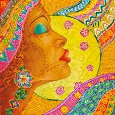 """Схема для вишивання бісером на натуральному художньому холсті """"Африканка"""""""