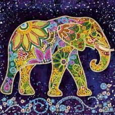 """Схема для вишивання бісером на натуральному художньому холсті """"Індійський слон"""""""