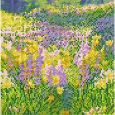 """Схема для вишивання бісером на натуральному художньому холсті """"Cонячне поле"""""""
