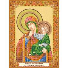 """Схема для вишивання бісером на натуральному художньому холсті """"Ікона Божої Матері """"Розрада й утіха"""""""