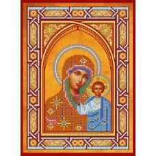 """Схема для вишивання бісером на натуральному художньому холсті """"Ікона Пресвятої Богородиці """"Казанська"""""""