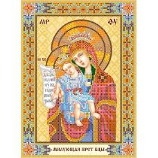 """Схема для вишивання бісером на натуральному художньому холсті """"Ікона Пресвятої Богородиці """"Милуюча"""""""