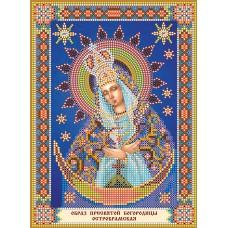 """Схема для вишивання бісером на натуральному художньому холсті """"Ікона Божої Матері """"Остробрамська"""""""